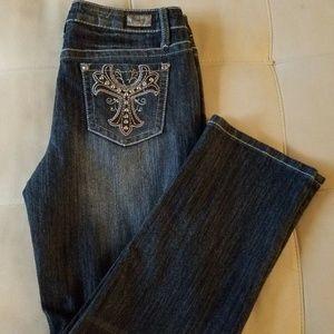 EARL Jean Straight Leg Boot Cut Jeans Dark Denim